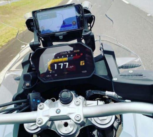 SUPORTE ALÇA NAVEGAÇÃO (CELULAR/ GPS) BMW 750 GS