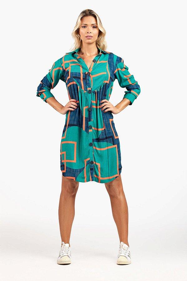 Vestido Chemise Geométrico