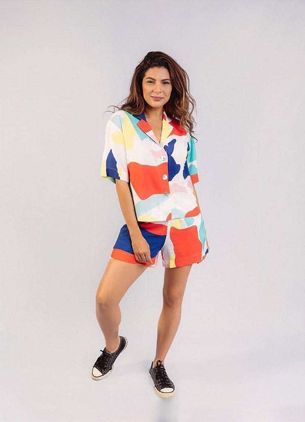 Camisa Nath Estampada Aquarela