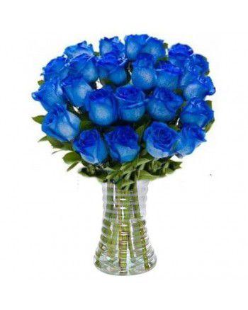 Arranjo no vaso com 24 rosas [Colors]