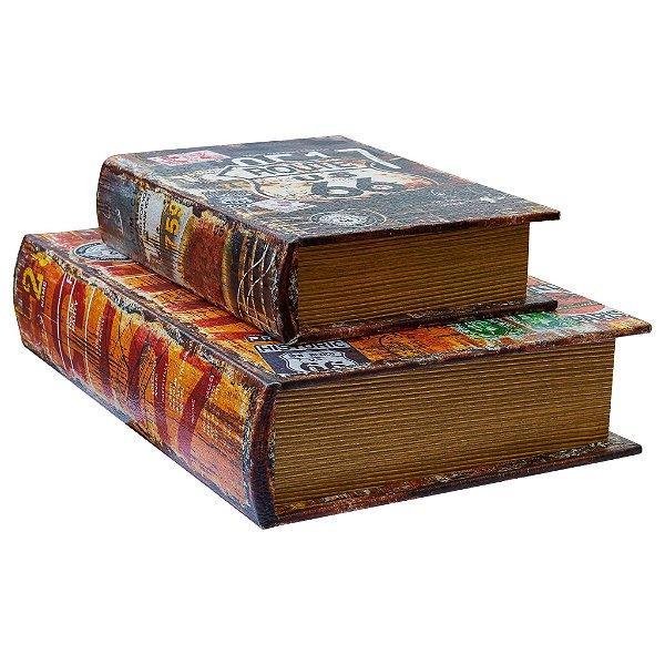 Livros decorativos – conjunto com dois livros