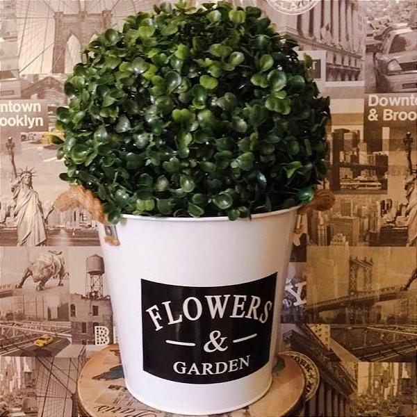 Cachepot flowers garden estilo balde
