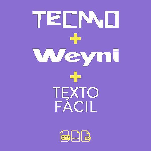 Kit Tecmo + Weyni + Texto Fácil