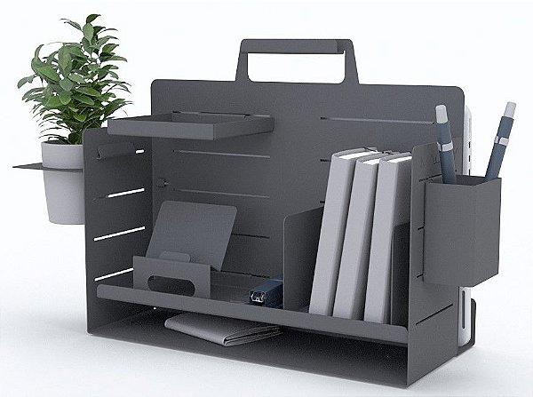 Box de Organização de mesa para Home Office Linha de Acessórios Light