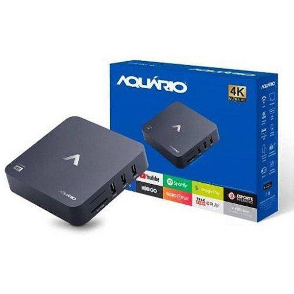 Smart TV Box Android Conversor para Smart TV 4K Aquário STV2000