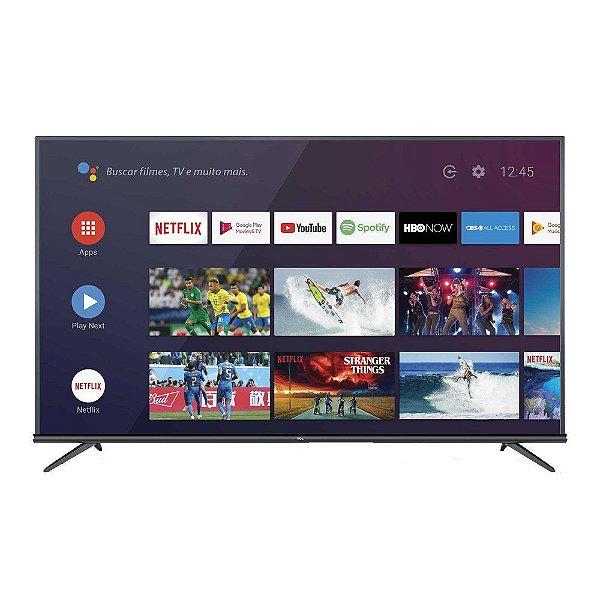 """Smart TV LED 65"""" 4K TCL 65P8M com Android TV Comando de Voz Bluetooth"""