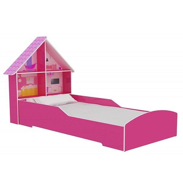 Cama Casinha 090 Gelius Pink Ploc Infantil