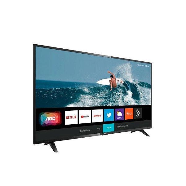 "Smart TV LED 32"" HD AOC 32S5295/78G Com WiFi, Netflix e Youtube"