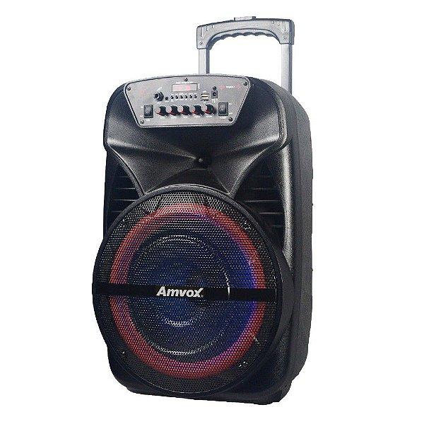 Caixa de Som Bluetooth com LEDS ACA 380 VIPER Amvox 380w rms