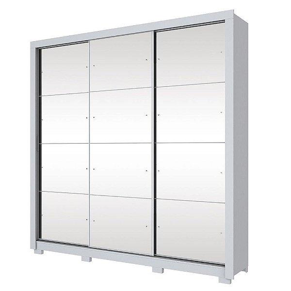 Roupeiro 3 Portas deslizantes com Espelho Trentino Branco Henn