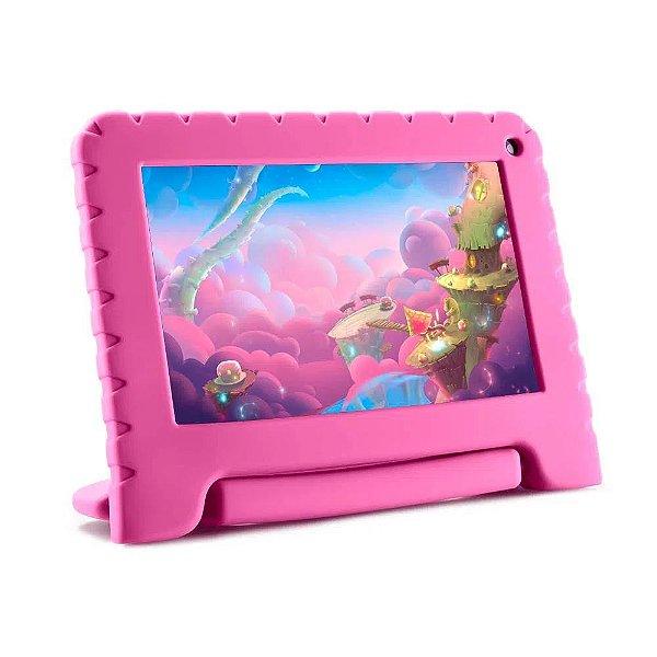 Tablet infantil KID PAD LITE 7 Polegadas 16GB Andoid 8.1 Wifi Bluetooth Rosa Multilaser