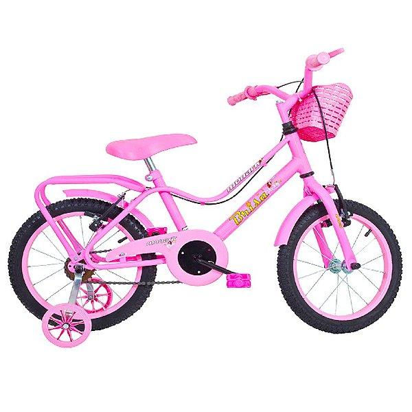 Bicicleta Infantil Feminina Aro 20 Brisa Rosa Monark
