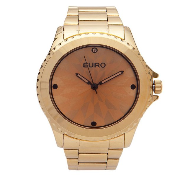 Relógio Feminino EU2035YCE/4M Fumê Dourado Euro
