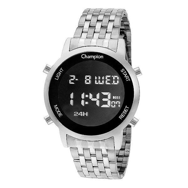 Relógio Feminino Digital CH48091T Prata Champion
