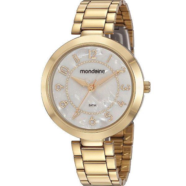 Relógio Feminino Analógico 32106LPMVDE1 Dourado Mondaine