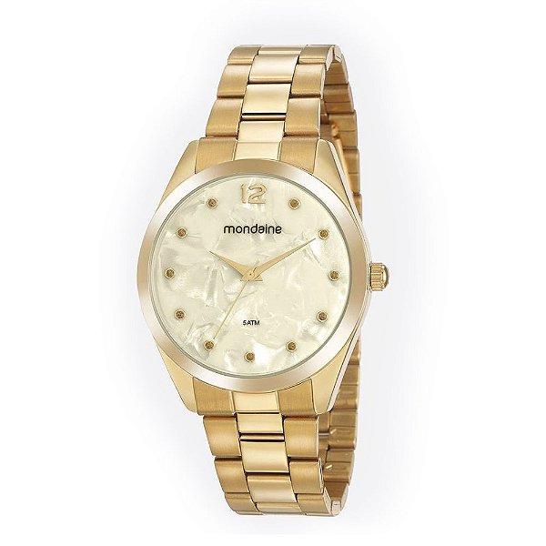 Relógio Feminino 53916LPMGDE2 Dourado Brilho Mondaine