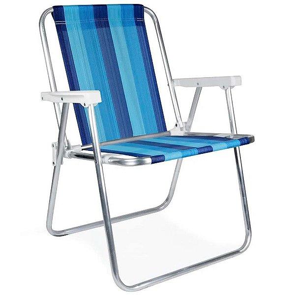 Cadeira de Praia Alta Conforto de Alumínio MOR