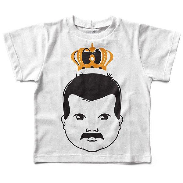 Camiseta Infantil Baby Freddie Mercury Baby, Let's Rock Baby