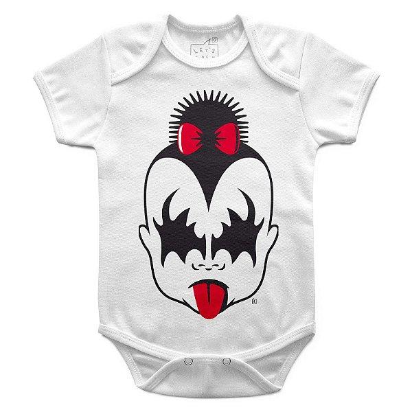 Body Bebê Kiss Menina, Let's Rock Baby