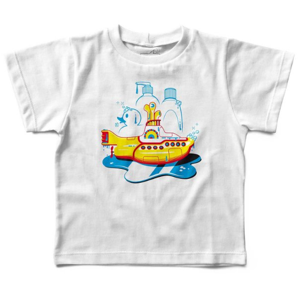 Camiseta Yellow Submarine Banho, Let's Rock Baby