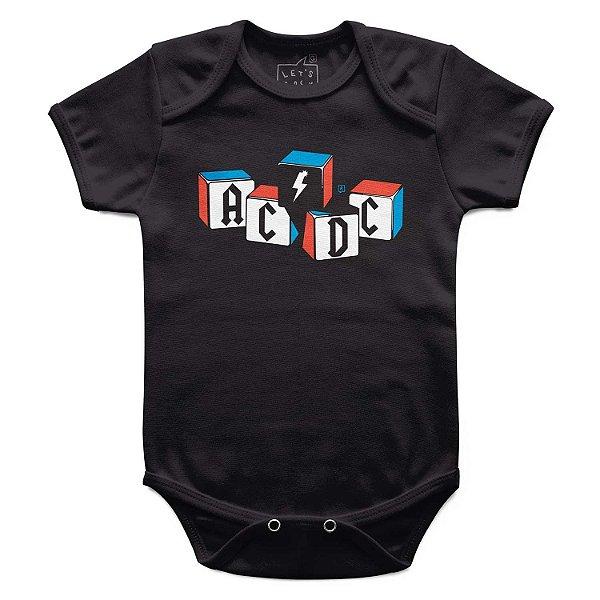 Body Bebê ACDC Blocos, Let's Rock Baby