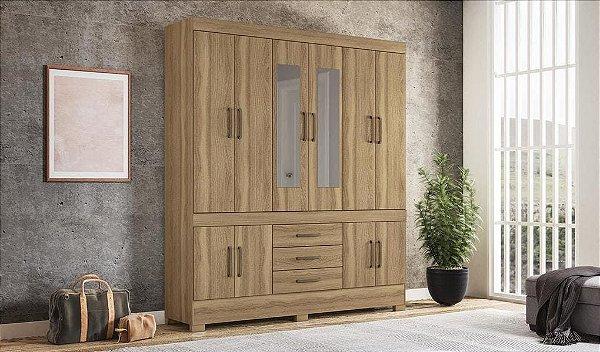 Guarda Roupa 10 Portas New Murano Com espelho Demóbile Amendola Touch