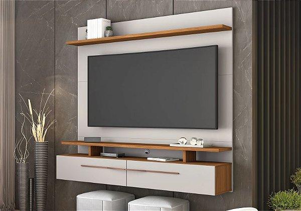 Painel para TV até 60 Polegadas 2 Portas NT1110 Notável Off white/ Freijo