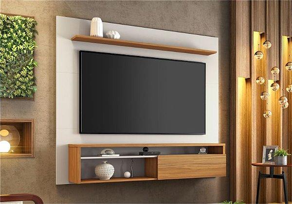 Painel Suspenso Notável NT 1100 Para TV de 60 Polegadas Off white/ Freijo Trend