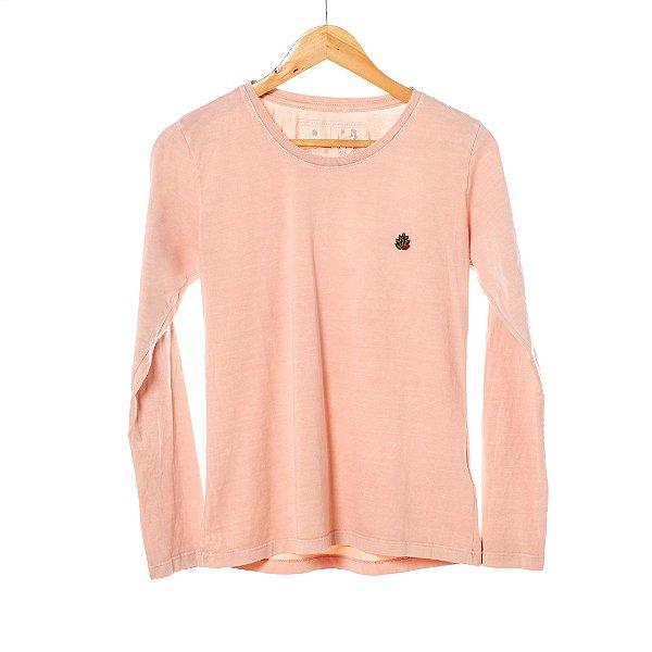 Camiseta Hop.oh manga longa feminina - Rose