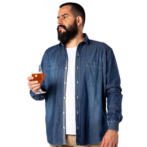 Camisa Jeans Hop.oh Destroyer
