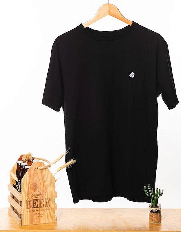 Camiseta Bordada Preta
