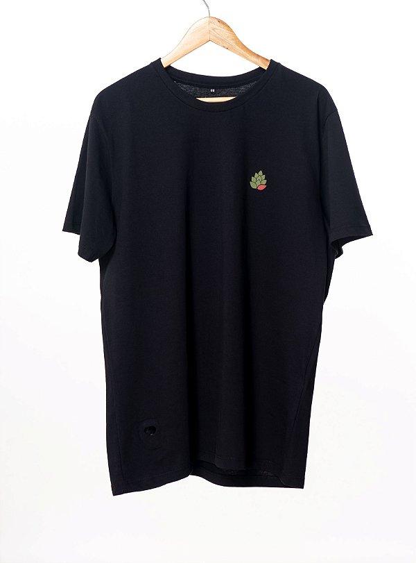 Camiseta Hop.oh Preta com abridor de garrafa