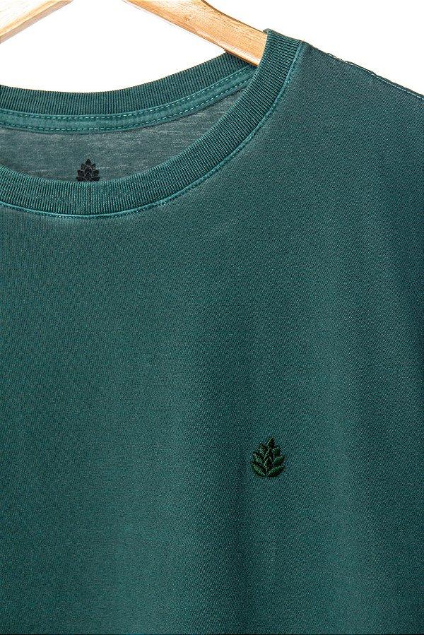 Camiseta Lúpulo Bordado Verde