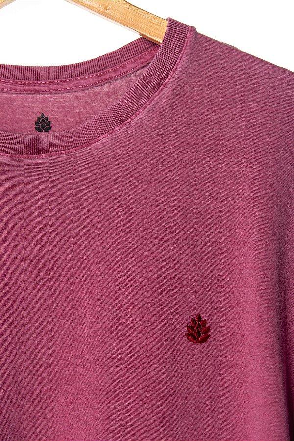 Camiseta Lúpulo Bordado Vinho