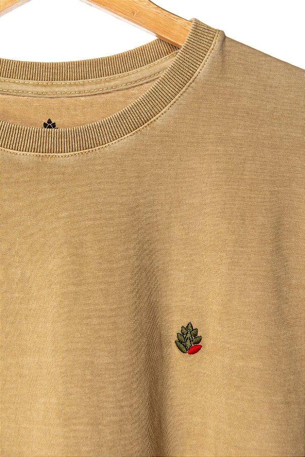 Camiseta Lúpulo Bordado Areia