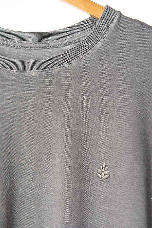Camiseta Lúpulo Bordado Cinza