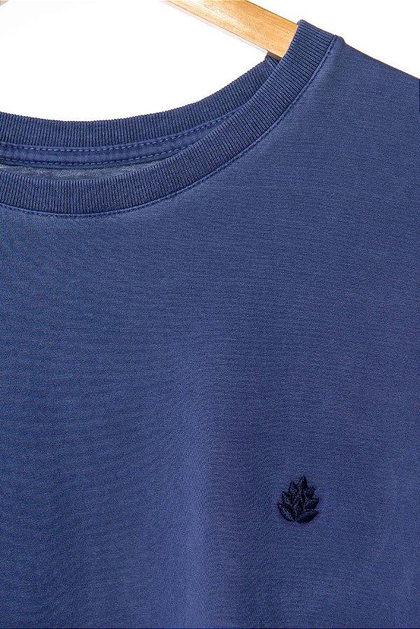 Camiseta Lúpulo Bordado Azul
