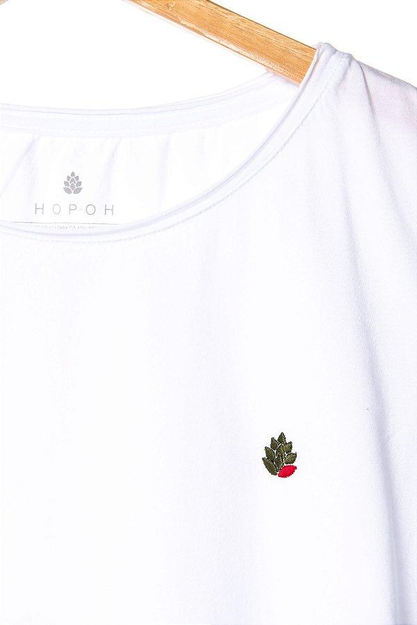 Camiseta Lúpulo Bordado Style Branca