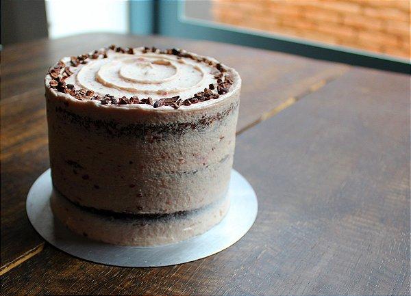 Bolo de Chocolate com Framboesa - Especial dia dos Namorados