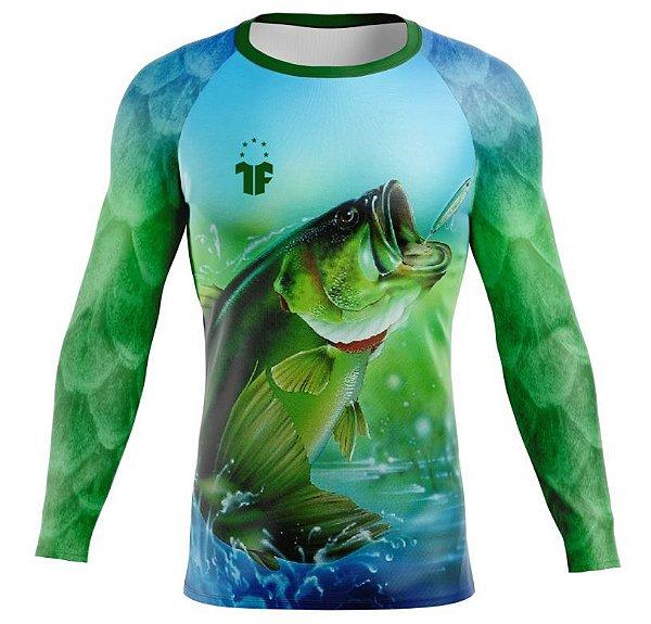 Camiseta de Pesca Esportiva Proteção UV Manga Longa - MOD#014