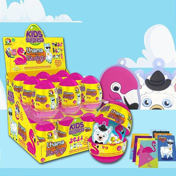 Kids Surpresa Eggs Lhama e Flamingo