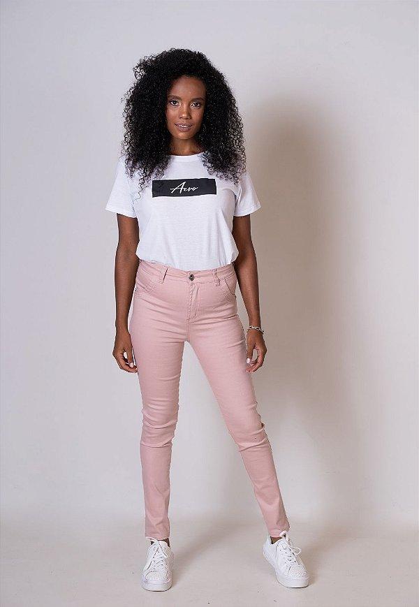 Calça Jeans Skinny Rosa
