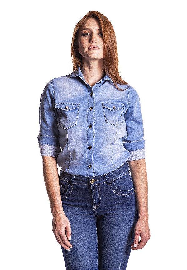 Camisa Jeans clara