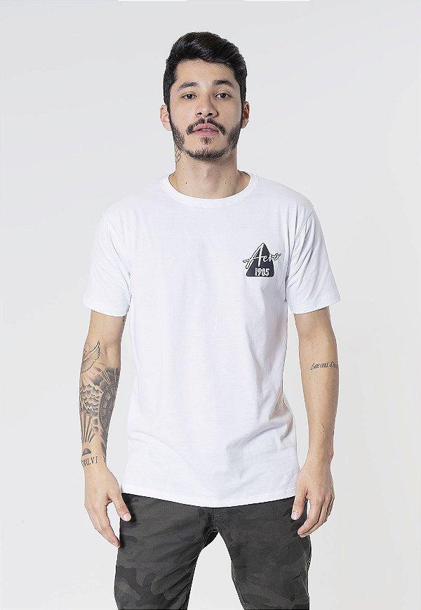 Camiseta Aero Jeans Triangulo 1985 Branca
