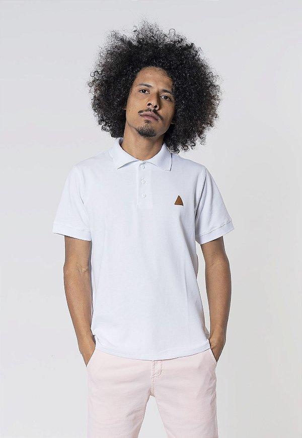 Camisa Polo Regular Fit Piquet Lisa Branca