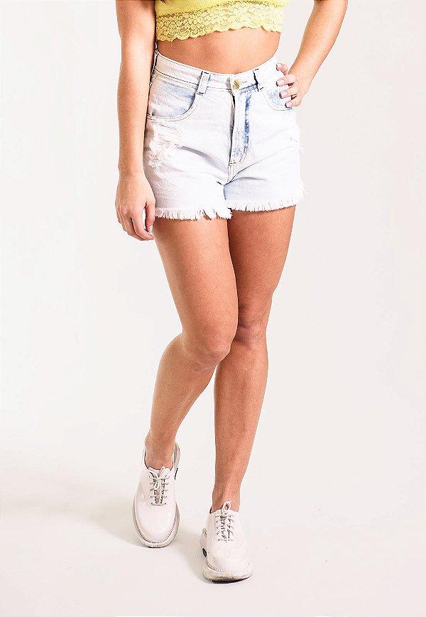 Short Jeans Skinny Azul