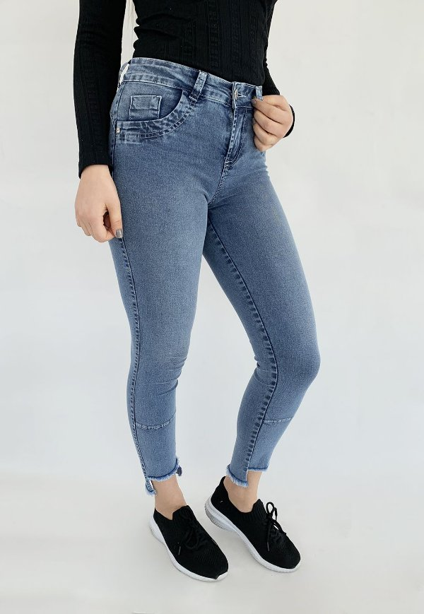 Calça Jeans Skinny Cropped Azul