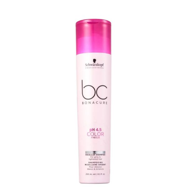 Shampoo Desamarelador pH 4.5 Color Freeze Micellar Silver Schwarzkopf Professional Bonacure 250ml