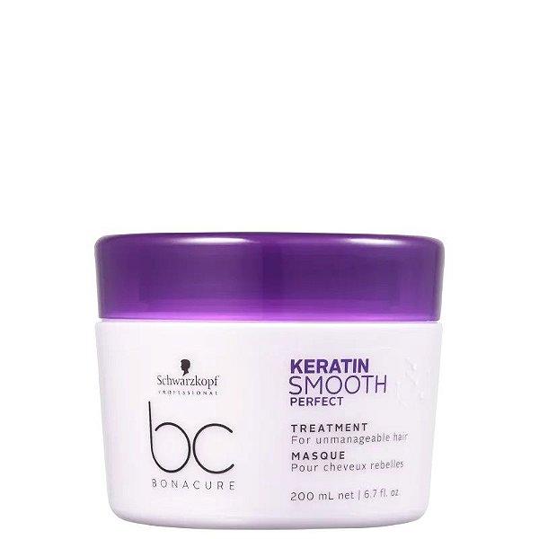 Máscara de Tratamento Keratin Smooth Perfect Schwarzkopf Professional Bonacure 200ml