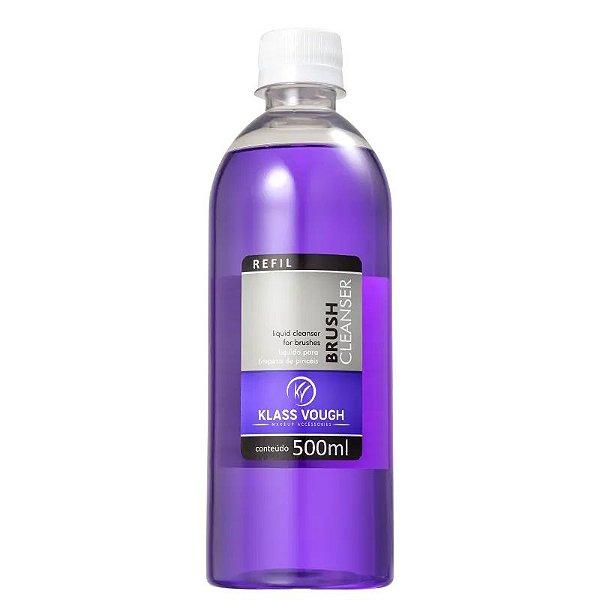 Líquido Limpador de Pincéis Brush Cleanser Klass Vough Refil 500ml